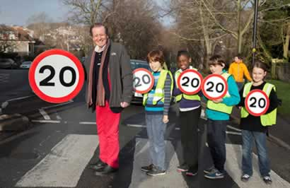 Bristol's health experts come out in support of 20mph speed limits
