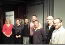 The judging panel and development fund winners at the Make It Bristol event