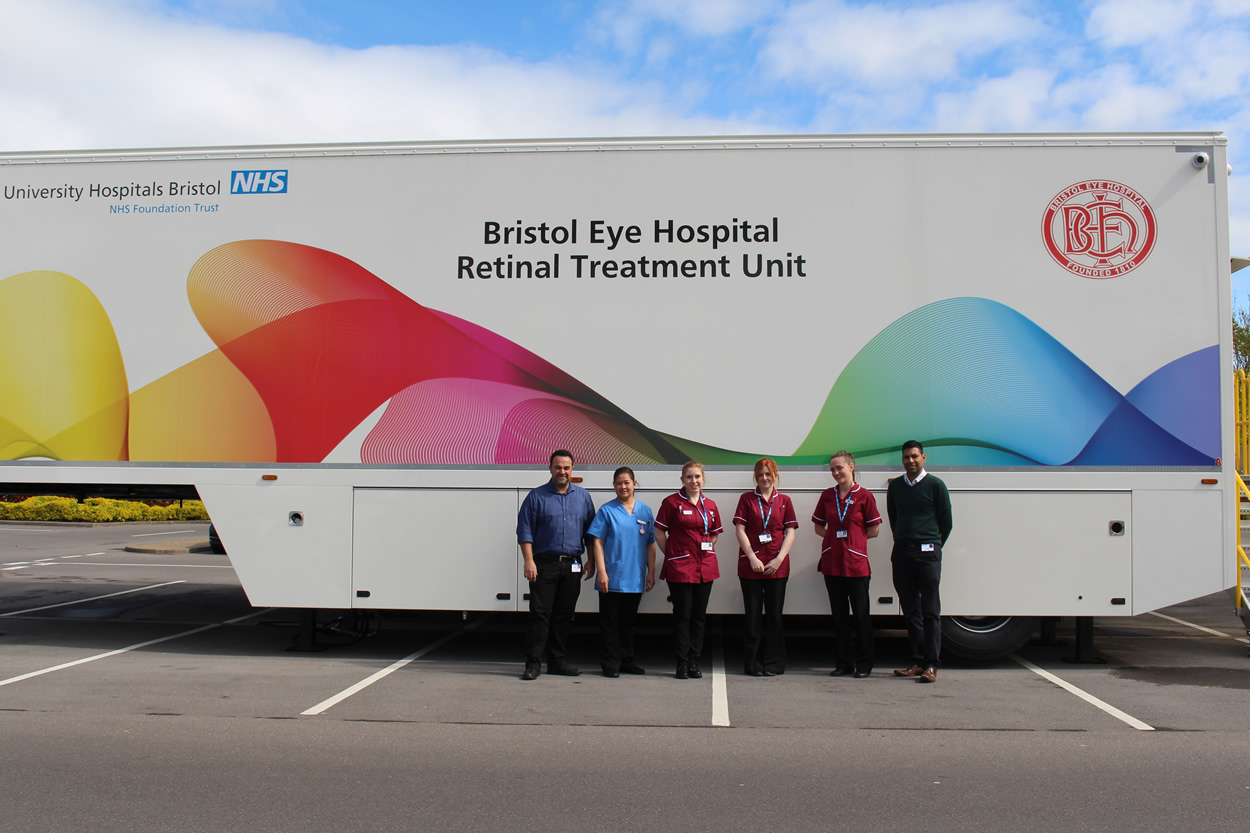 Bristol Eye Hospital specialist treatment unit launched outside Morrisons, Cribbs Causeway